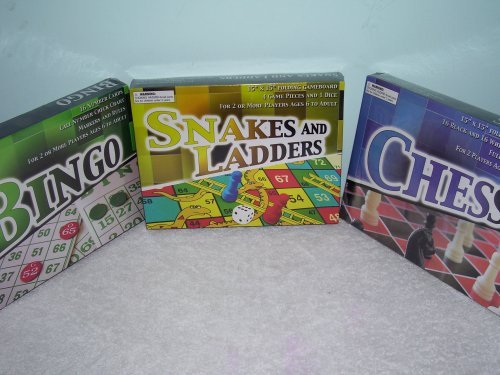 Board Games of Snakes & Ladders, Chess, Checkers, & Bingo ( Each Item Is Sold Individually )