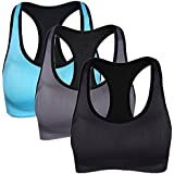 Lataly Women's Workout High Impact Sports Bra Gym Fit Seamless Racerback Brassiere