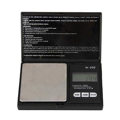 Colemeter® Balance De Poche Electronique Precision 0.01-200 Gramme Noir