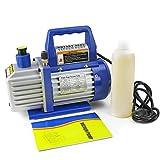 XtremepowerUS 1/3 HP Single Stage Rotary Vane Vacuum Pump 4...