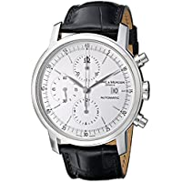 Baume & Mercier 8591 Classima Mens Leather Strap White Chronograph Dial Steel Automatic Watch