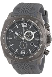 """Swiss Legend Men's """"Sprinter"""" Gunmetal Ion-Plated Stainless Steel and Gray Silicone Watch"""
