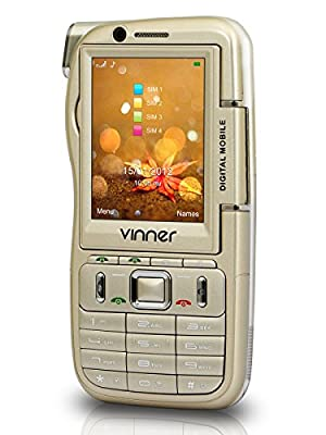 Vinner Touch & Type Camcorder Mobile (DV01) with 4 Sim Slot and Analog Tv