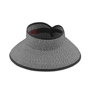 San Diego Hat Roll Up Visor (black/white mix)