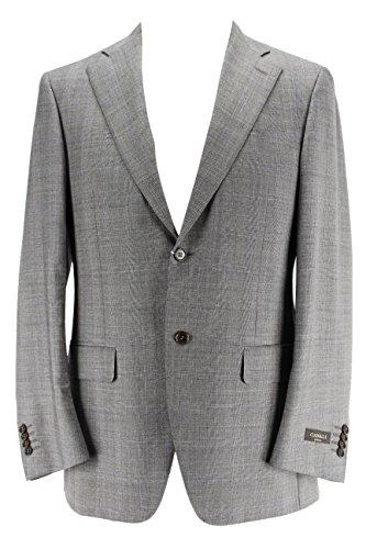 canali-mens-two-button-suit-size-38-us-48-eu-regular-plaid-grey-virgin-wool