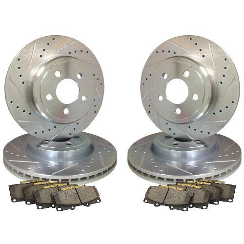 Land Rover Rear Brake Rotor Disc Set Range Discovery I: Emil Performance Emil4Dsp408 Cross Drilled And Slotted