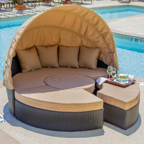 Avery Island Resin Wicker Patio Daybed image