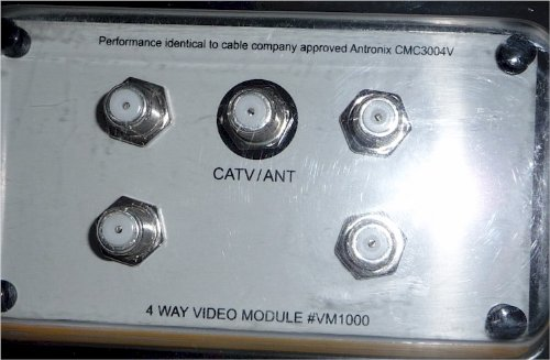 4-Way Video Module Splitter On-Q/Legrand Metal Rca To F-Type Wall Jack