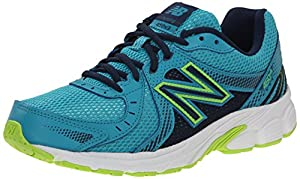 New Balance Women's W450V3 Running Shoe, Aqua/Green, 8 B US