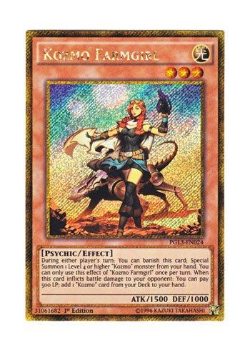 遊戯王 英語版 PGL3-EN024 Kozmo Farmgirl (ゴールドシークレットレア) 1st Edition