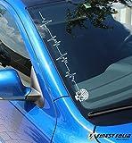 VW Skull Frontscheibenaufkleber VW GOLF Polo 6 7 5 4 GTI Aufkleber R 9N A4 A5