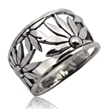 Thaimart Beautiful Sunflower Handmade Ring 925 Sterling Silver