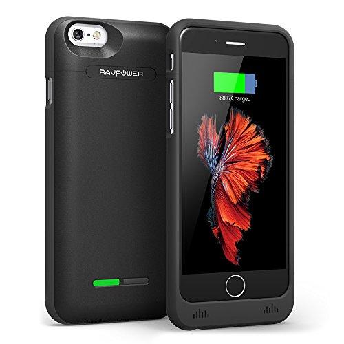 Funda Batería iphone 6 / 6s, RAVPower 3000mAh Cargador Batería Externa MFi Certificada, Carcasa Protectora Para iPhone 6, iPhone 6S (4.7