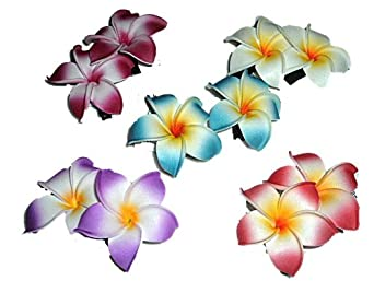 HAWAIIAN HAIR CLIPS (Red)