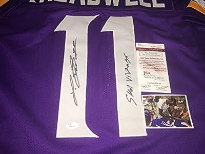 """Laquon Treadwell Minnesota Vikings Autographed Signed Custom Purple Jersey JSA WITNESS COA """"SKOL VIKINGS"""""""