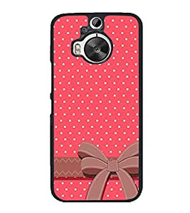 Pink Pattern with Bow 2D Hard Polycarbonate Designer Back Case Cover for HTC One M9 Plus :: HTC One M9+ :: HTC One M9+ Supreme Camera