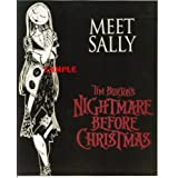 Nightmare Before Christmas Sally and Logo 8x10 Photo NBC1015
