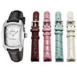 Swiss Watches:Invicta Women's 5168 Baby Lupah Collection Mother-of-Pearl Dial Shiny Leather Interchangeable Watch Set