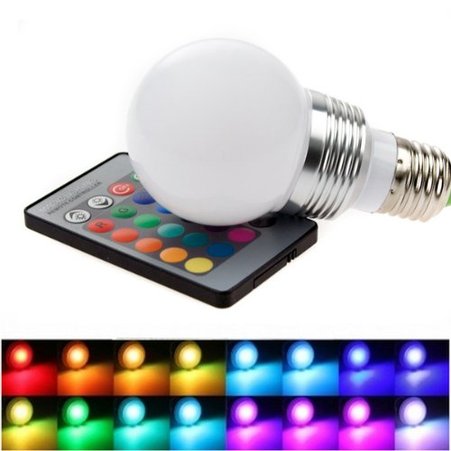 XCSOURCE® RGB LED Bulb Light Changing Lamp 16