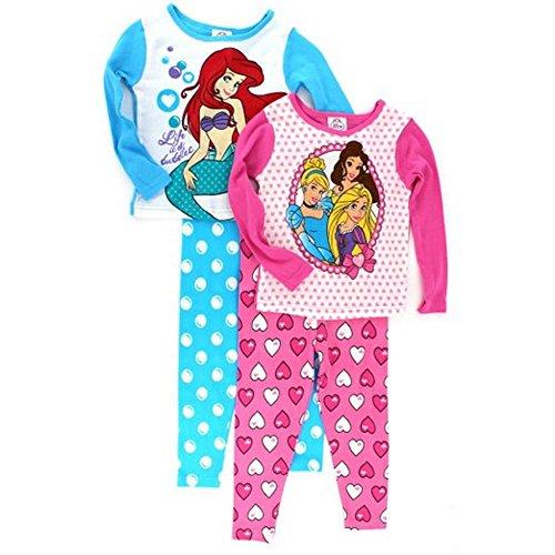 Disney Princess And Ariel Girls 4 Pc Pajamas Set (8) front-92939