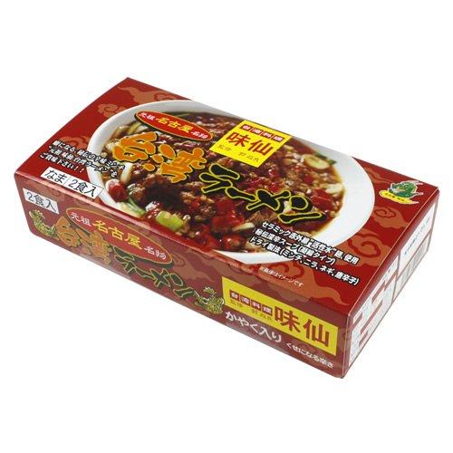 「名古屋名物」味仙 台湾ラーメン (かやく、生めん2食入り)監修 郭政良 33174