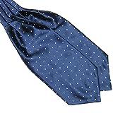 Froomer Mens Ascot Blend Polka Dot Ties Silk Cravat