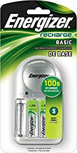 Energizer 07401 - AA/AAA Basic Rechargeable Charger (CHVCWB2)