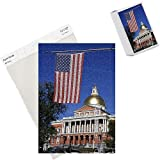 Photo Jigsaw Puzzle of Massachusetts State House with gold dome, Boston