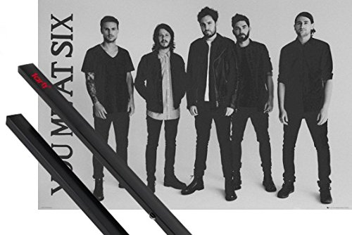 Poster + Sospensione : You Me At Six Poster Stampa (91x61 cm) Sinners Never Sleep, Band E Coppia Di Barre Porta Poster Nere 1art1®