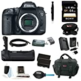 Canon EOS 7D Mark II Digital SLR Camera (Body Only) with Canon Battery Grip BG-E16 and 64GB Deluxe Accessory Kit