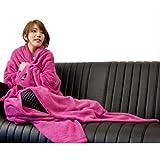 mofua(モフア) 袖付きマイクロファイバー あったか着る毛布 ピンク 22000001