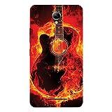 Kizil (TM) Hard Shell Designer Back Cover For Lenovo A5000 (Design - Burning Gitar)
