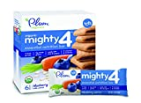 Plum Organics Mighty 4 Essential Nutrition Bars Blueberry with Carrot, 6 Count (Pack of 8)