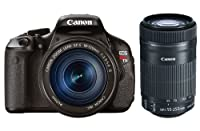 Canon EOS Rebel T3i DSLR Camera with Canon EF-S EF-S 18-135mm f/3.5-5.6 IS Lens - Bundle - with Canon EF-S 55-250mm f/4-5.6 IS STM Lens from Canon