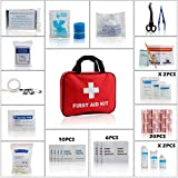 Eggsnow First Aid Kit Medical Emergency Bag (68 Piece) Compact, Ultra Light and Comprehensive - Ideal for Home ,Auto ,Travel , Road Trips, Camping,Sport and Wilderness Survival