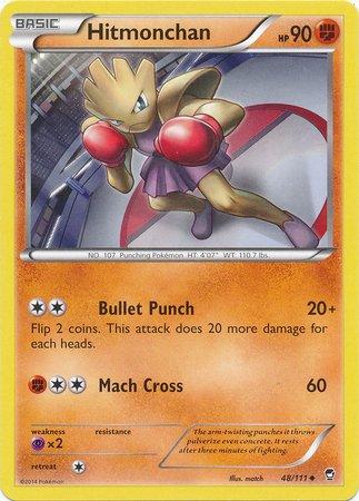 Pokemon-Hitmonchan-48111-XY-Furious-Fists-Reverse-Holo