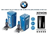 Pair of H1 12V 55w Super White Xenon HID BMW 3 Compact (36) 318 ti 94-95 FOG LAMPS (STD) P14,5s