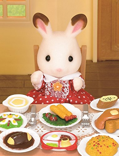 sylvanian families 2 play food sets together lunch set fluffy pancake sets food beverages. Black Bedroom Furniture Sets. Home Design Ideas