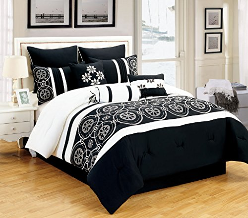 Ideal You will see more details pare expense and also read assessment customer opinions right before buy Piece Queen Tamara Black and White Comforter Set