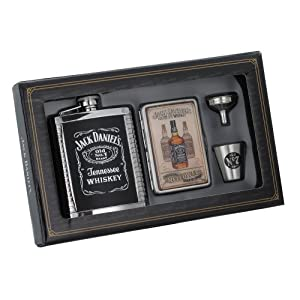Jack Daniel's Flask/Case/Shot/Funnel Gift Set