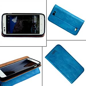 i-KitPit - PU Leather Flip Case Cover For Sony Xperia L (SKY BLUE)