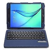 IVSO Samsung Galaxy Tab A 9.7 QWERTY Bluetooth Tastiera Portfolio - DETACHABLE Bluetooth copertura della tastiera per Samsung Galaxy Tab A 9.7 9.7-Pollice Tablet   This Bluetooth keyboard case is a perfect combination for your precious Samsun...