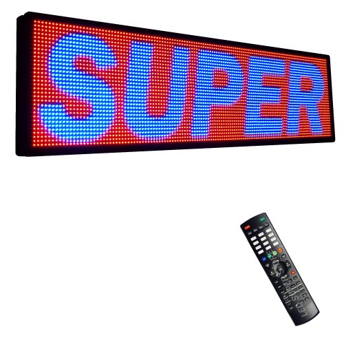 """Led Super Store Signs 3 Color (Rbp) 22"""" X 117"""" - Programmable Scrolling Display, Storefront Message Board - Industrial Grade Business Tools, Emc"""