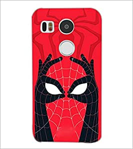 PrintDhaba Spider face D-3971 Back Case Cover for LG NEXUS 5X (Multi-Coloured)