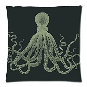 Amazon.com: Cool King Octopus Throw Pillow Case Zippered Cushion Cover Home Sofa Decorative ...