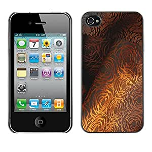 Omega Covers - Snap on Hard Back Case Cover Shell FOR Apple iPhone 4 / 4S - Fine Textile Pattern Grey Rose