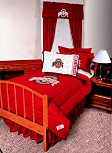 Ohio State Buckeyes Jersey Bedskirt (Full) by Sports Coverage