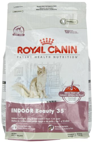 Image of Royal Canin Formula Cat Food, Indoor Beauty and Fit Care 35, 6-Pound Bag