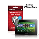 MediaDevil BlackBerry PlayBook Screen Protectors: Magicscreen Matte Clear (Anti-Glare) edition - (2 x Protectors)