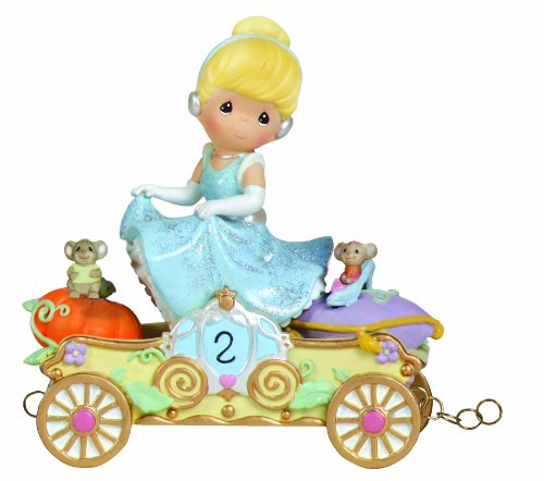 "Precious Moments / Disney ""Bibbidi, Bobbidi, Boo- Now You're Two"" Cinderella Age Two Figurine"
